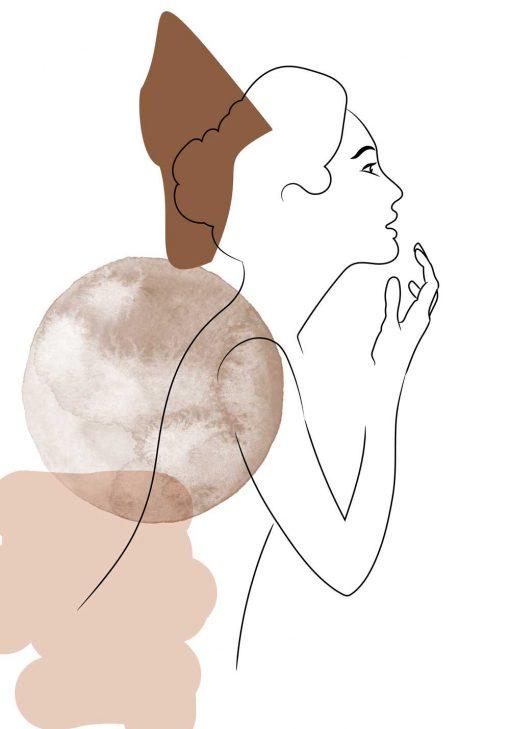 Plakat szkic kobiecej sylwetki do dekoracji salonu