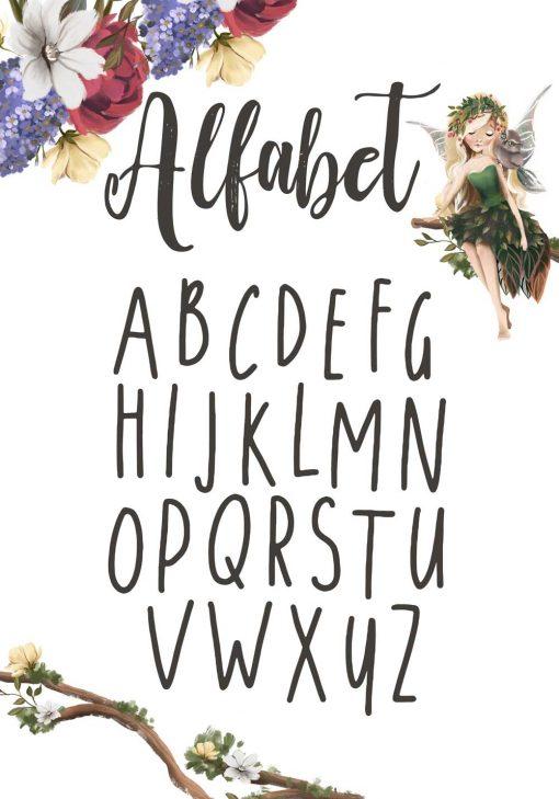 Plakat z alfabetem do szkoły