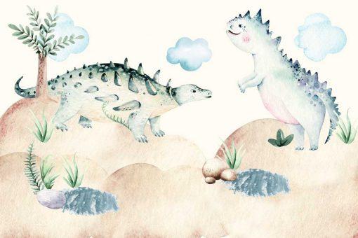 Foto-tapeta z dinozaurami dla dzieci