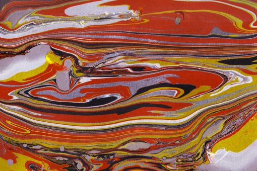 Obraz z motywem żółtych fal
