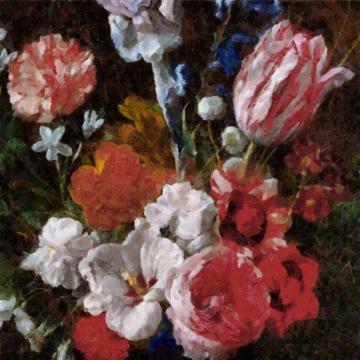 Fototapeta w stylu prowansalskim z tulipanami do kuchni