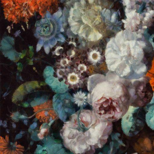 Foto-tapeta z motywem jesiennych kwiatów do wnętrz w rustykalnym stylu