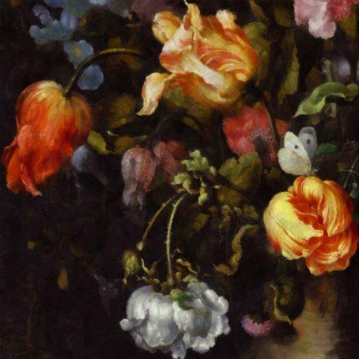 Fototapeta z motywem czerwonych tulipanów na przedpokój