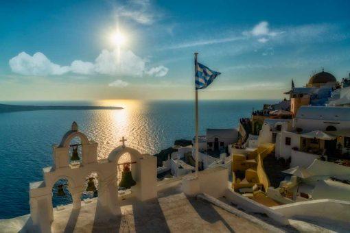 Obraz z lazurowym Morzem Egejskim do pokoju