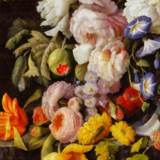 Tapeta z kwiatami do dekoracji sypialni