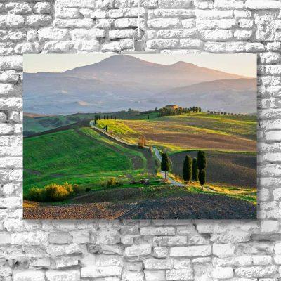 Obraz z toskańskie pola wiosną