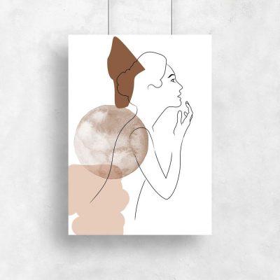 Plakat kobieca postać na rysunku