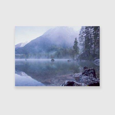 Niebieski obraz z jeziorem Hof
