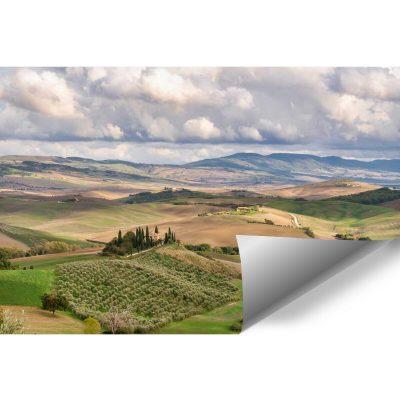 Fototapeta z toskańskim pejzażem