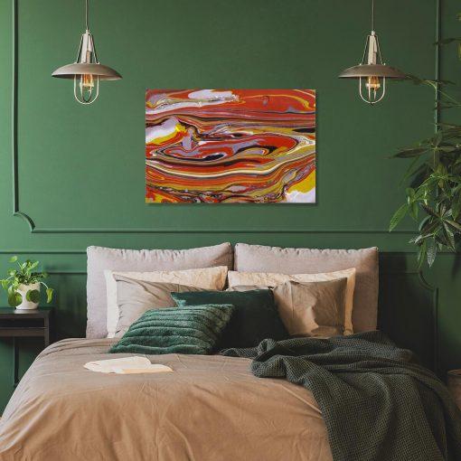 Pomarańczowy obraz z abstrakcją