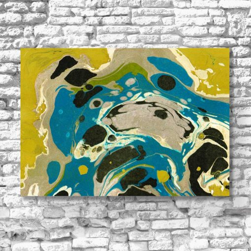 Żółta abstrakcja - Obraz do salonu