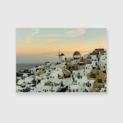 Dekoracja do sypialni - Obraz z Santorini