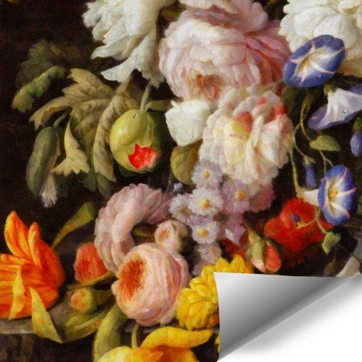 Tapeta w kwiaty do ozdoby stylowego salonu