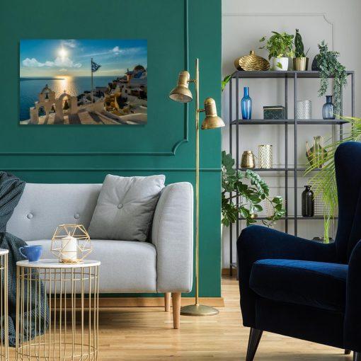 Obraz z lazurowym Morzem Egejskim do biura podróży