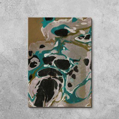Obraz z abstrakcyjnymi cętkami do sypialni