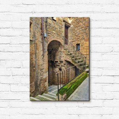 Obraz toskańska uliczka w Castiglione d'Orcia