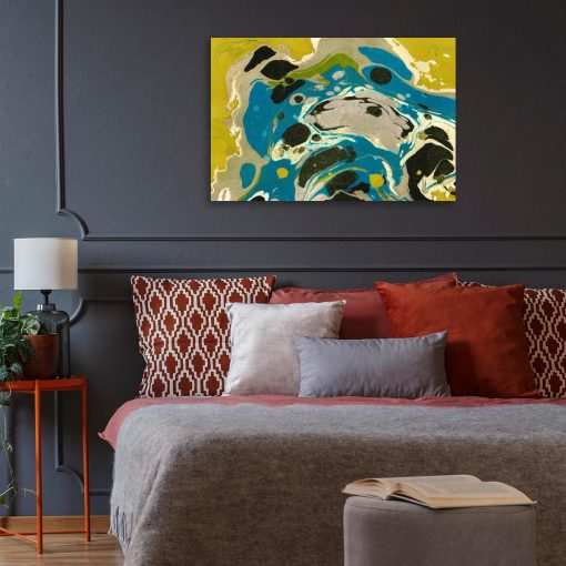 Niebieska abstrakcja - Obraz z reprodukcją do salonu