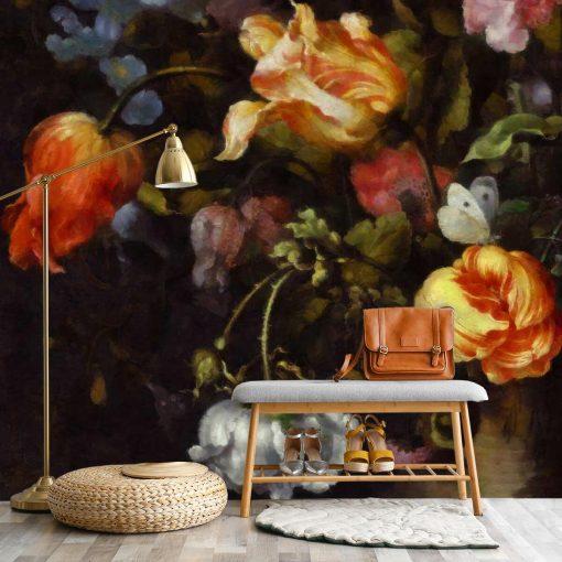 Fototapeta z motywem czerwonych tulipanów do salonu