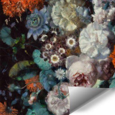 Foto-tapeta z motywem jesiennych kwiatów do jadalni