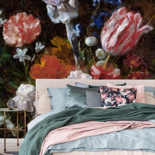 Fototapeta w stylu prowansalskim z tulipanami do gabinetu