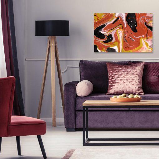 Obraz przedstawiający abstrakcję w żywym kolorze