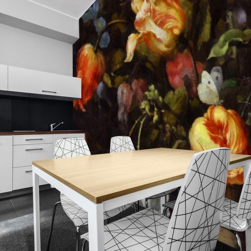 Fototapeta z motywem czerwonych tulipanów do kuchni