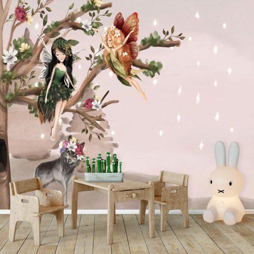 Elfy i Wilczyca - fototapeta dla dzieci