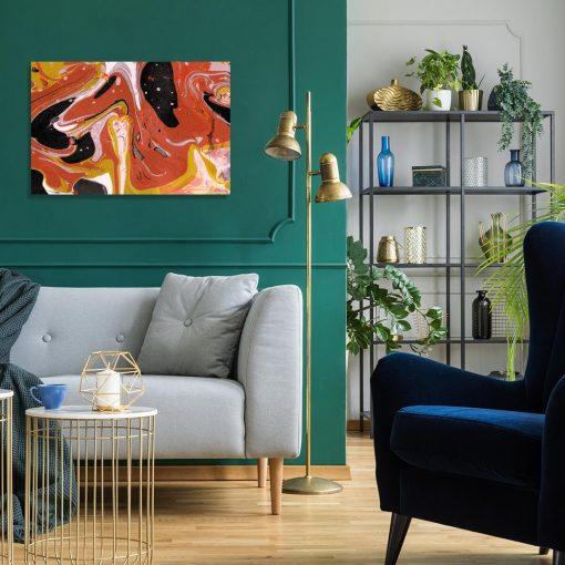 Obraz z motywem abstrakcji do dekoracji sypialni