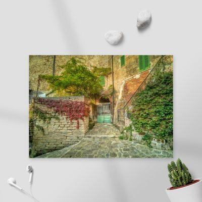 Obraz kamienne uliczki w Toskanii