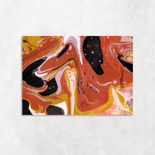Obraz z abstrakcją w pomarańczowym kolorze