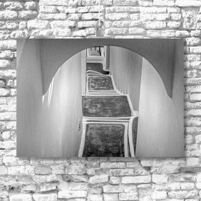 Schody na Santorini - Obraz do sypialni