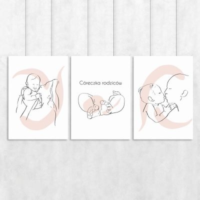 Córeczka rodziców -komplet trzech posterów