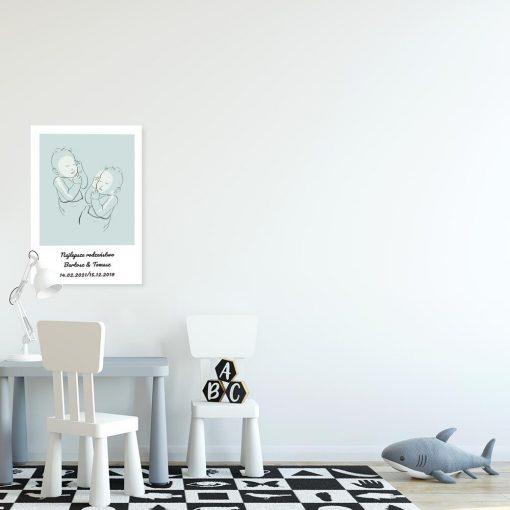 Dziecięcy plakat z motywem bobasów do pokoju chłopców