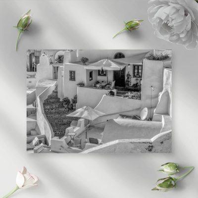 Obraz z domkami w Grecji do dekoracji biura