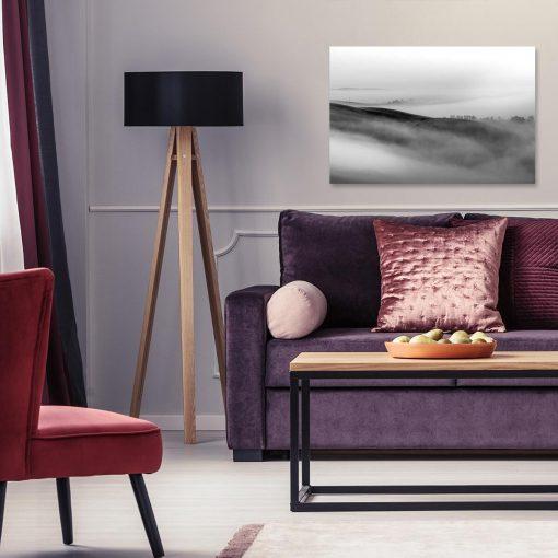 Obraz z mgłą do salonu