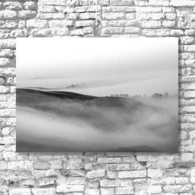 Obraz z motywem krajobrazu w szarym kolorze