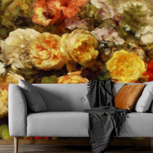 Tapeta z florystycznymi elementami