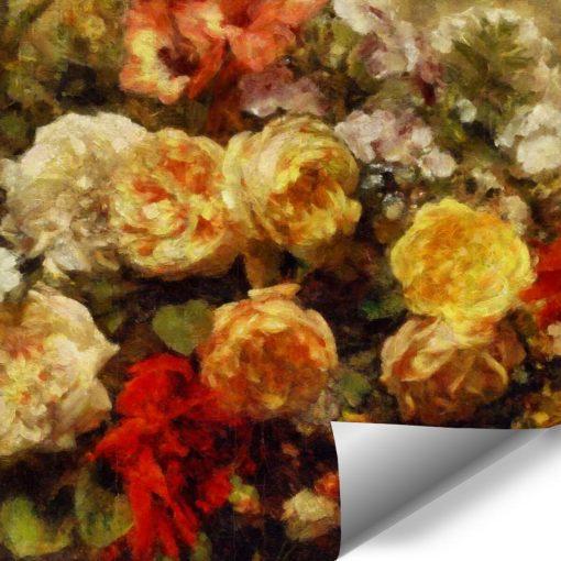 Tapeta florystyczne motywy