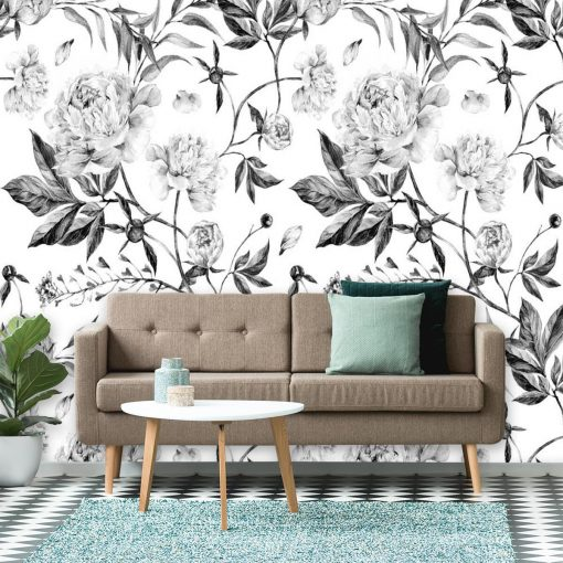 Fototapeta z motywem kwiatowym do dekoracji sypialni