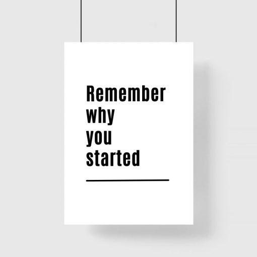 Plakat z typografią w języku angielskim