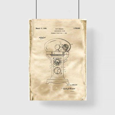 Plakat vintage - Chronometr astronomiczny do biura