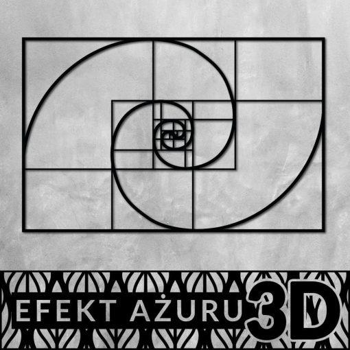 Geometryczny ornament ścienny 3d