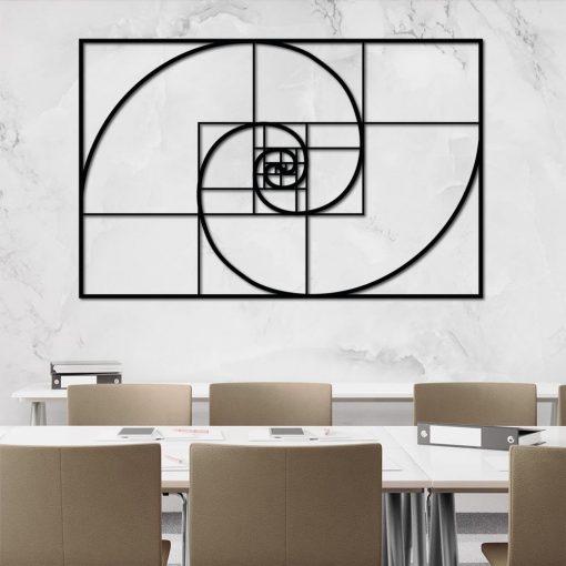 Trójwymiarowa dekoracja na ścianę - Fibonacci