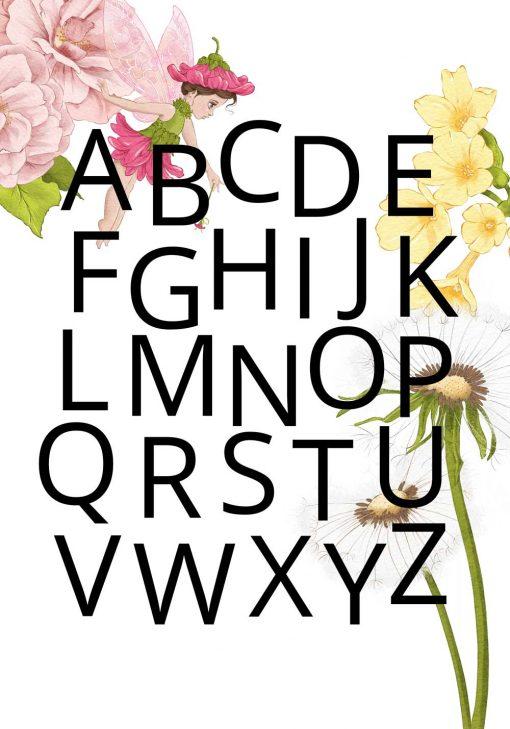 Alfabet - Plakat z dmuchawcem do przedszkola