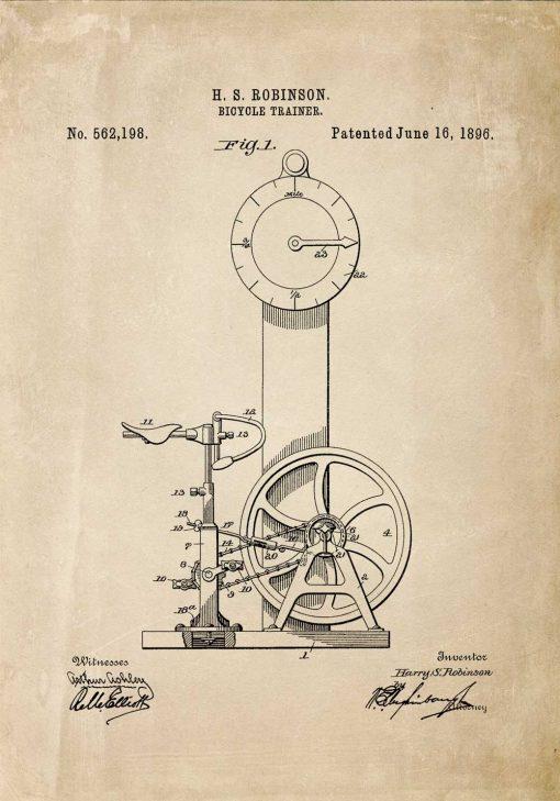 Plakat schemat budowy pierwszego rowerka treningowego