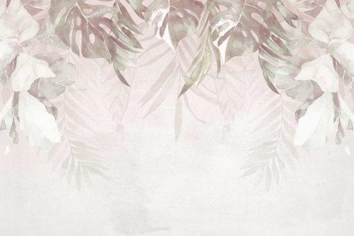 Tapeta z motywem tropikalnych liści
