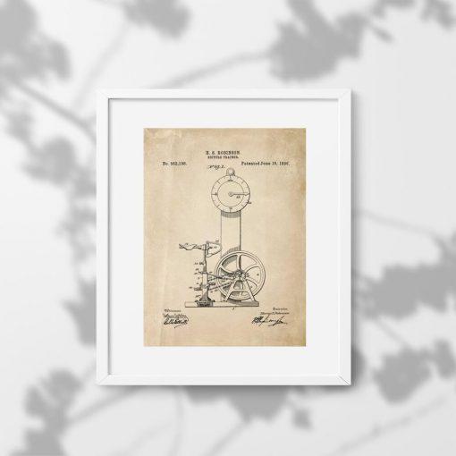 Plakat z koncepcją na rowerek treningowy z XIXw.