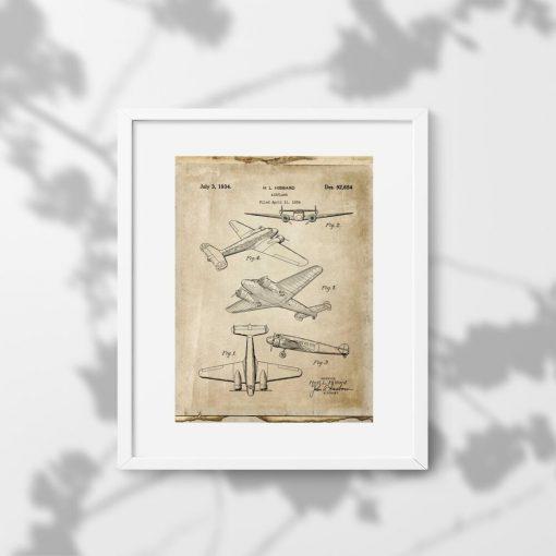 Plakat samolot dwusilnikowy - kontrukcja