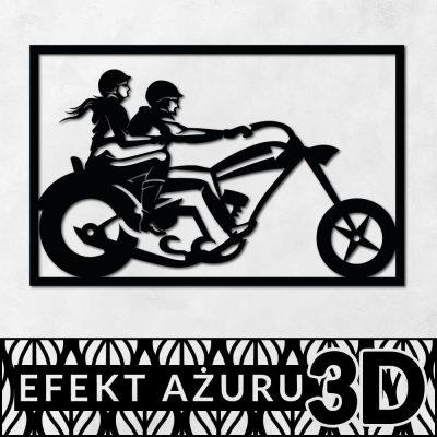 Dekoracja ażurowa - motocykliści