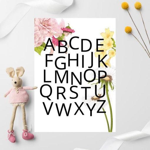Alfabet - Plakat z dmuchawcem dla przedszkolaka